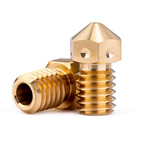 2pcs 3D Printer Brass M6 Nozzle 0.6mm For 3.0mm V5 V6 Hotend, Titan Aero extruder, Ultimaker 2+ Extended Olsson Block Hotend use (2pcs 0.6mm)