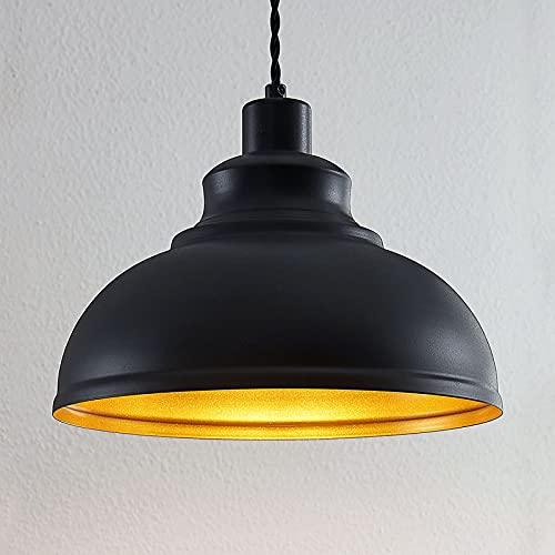 Lámpara colgante 'Albertine' (Vintage) en Negro hecho de Metal e.o. para Salón & Comedor (1 llama, E27, A++) de Lindby | lámpara colgante, lámpara colgante, lámpara, lámpara de techo, lámpara de