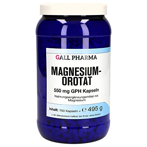 Gall Pharma Magnesiumorotat- 550 mg GPH Kapseln, 750 Stück
