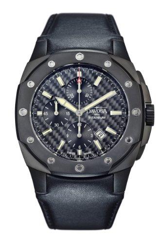 Davosa Herren-Armbanduhr Analog Automatik Leder 16150685