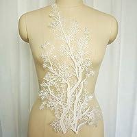 スパンコール刺繍フラワーレースアップリケ縫製襟パッチウェディングドレスドレスブライダルDIY生地工芸