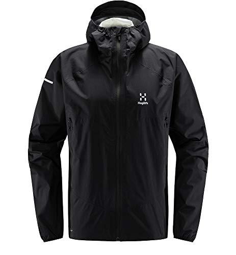Haglöfs Regenjacke Herren L.I.M Proof Multi Jacket wasserdicht, Winddicht, atmungsaktiv True Black L L