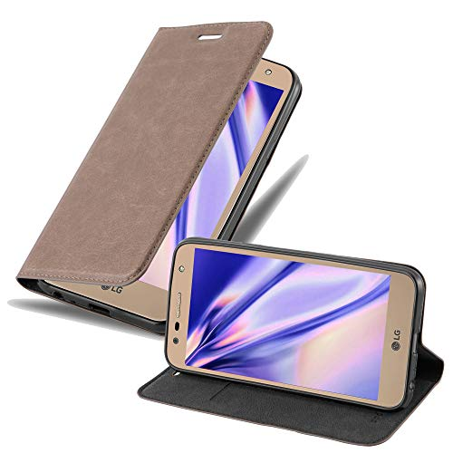 Cadorabo Custodia Libro per LG X POWER 2 in BRUNO CAFÉ - con Vani di Carte, Funzione Stand e Chiusura Magnetica - Portafoglio Cover Case Wallet Book Etui Protezione