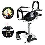 Zmmyr Electric Bicycle Child Safety Seat Pedal Motorcycle Scooter Can Lift Detachable Front Baby Kids Seats for Electric Scooters (Half Surrounded)