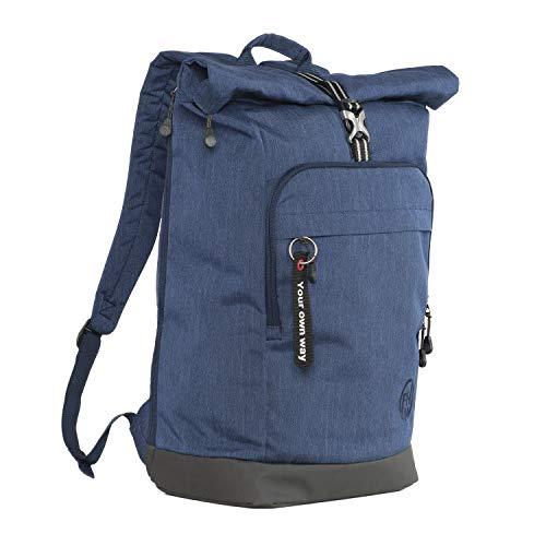 FHM Nomad Rucksack Rolltop für Herren Damen, Laptop 15,6 Zoll, Arbeit und Reisen, Schule und Uni, Backpack, Laptopfach, Wasserdicht, Unisex 25 L