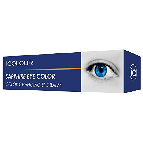 iCOLOUR Color Changing Eye Balm - Change Your Eye Color Naturally - 1 Month Supply - 4.3 g (Sapphire)