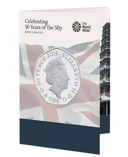 Uk Coin Company 2019 Royal Mint 50 años de los 50p Brillante Uncirculated Kew Gardens Juego de Monedas de 50 Peniques