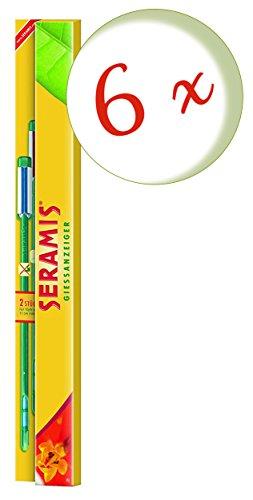 Oleanderhof® Sparset: 6 x SERAMIS® Gießanzeiger Indoor groß, 2 Stück + gratis Oleanderhof Flyer
