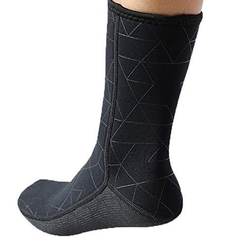 TrusMe Calcetines de buceo para hombre y mujer, 3 mm, para natación, traje de baño, para evitar arañazos, cálido, para esnórquel, color negro, XL