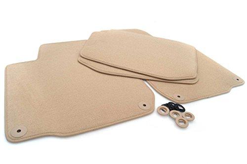 Beige tapis de sol pour volkswagen golf iV/bora/new beetle original qualité velours automatten 4 pièces
