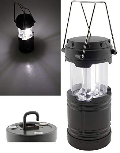 ChiliTec Lanterne de camping LED à piles 3 x AA Mignon 185 x 85 mm Support magnétique Crochet I Lumière blanche