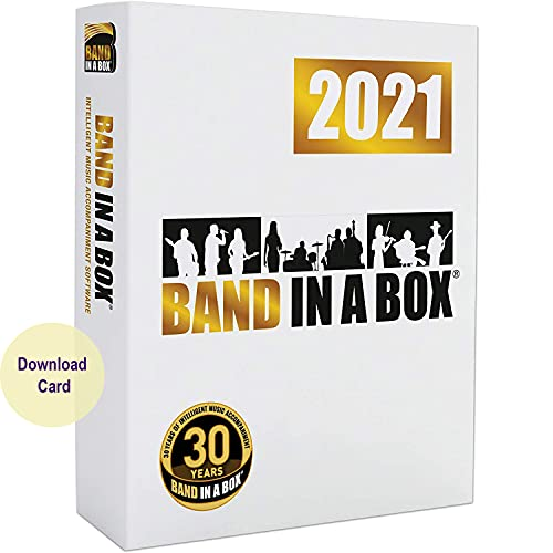 Band-in-a-Box 2021 Pro Windows - Create your own backing tracks (Download Card)
