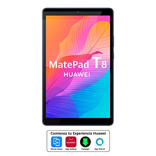 """HUAWEI MatePad T8 - Tablet de 8"""" HD (Wifi, RAM de 2GB, ROM de 16GB, procesador Octa-core, Diseñada para sus hijos, Sistema Operativo EMUI 10.0.1, Huawei Mobile Services) Color Gris"""
