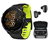 Suunto 7 Black Lime GPS Sports Smartwatch with Wearable4U Earbuds Power Bundle