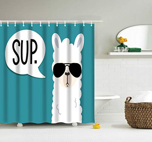 Cool Llama SUP Shower Curtain