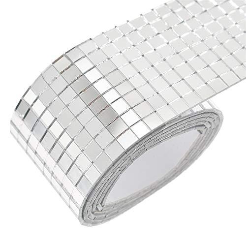 YGLONG Teselas Mini Cuadrado de Vidrio Autoadhesivo Mini Cuadrado Mosaico Azulejos para baño DIY Artesanía Hecha a Mano Decoración del hogar Mosaico Ceramica (Color : As Photos)