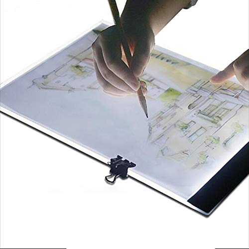 V-Best A4 Ultra-Thin Portable LED Light Box Led Desk Light Usb Cable 3 Levels Light Adjustment For Artists,Drawing, Sketching, Animation.
