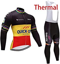 FH Men's Sportswear Winter Thermal Long Sleeves Cycling Jacket and Bib Pants Bike Jersey MTB Cycling Clothing Set Suits Kit