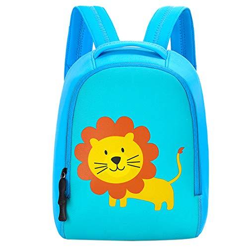 GWELL Süß Tier Babyrucksack Kindergartenrucksack Kindergartentasche Backpack Schultasche für Kinder Mädchen Jungen Löwe L