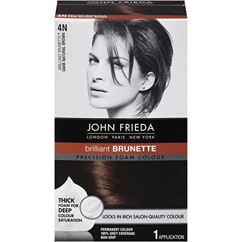 John Frieda Precision Foam Hair Colour, Dark Natural Brown 4N, 2 pk