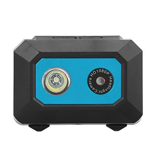 Cámara montada en la cabeza, resolución de video de 1920x1080 DV Cámara deportiva, para fotografía aérea Escalada en roca Hogar Deportes al aire libre Carreras de juguetes(Black blue)