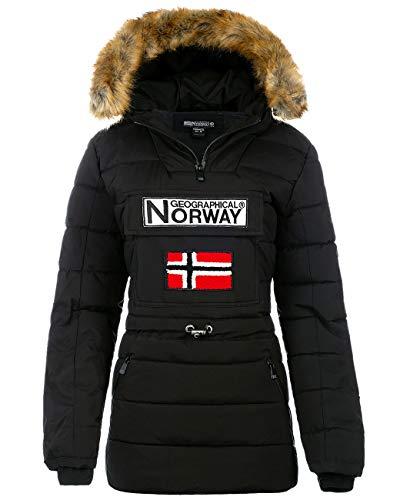 Geographical Norway Chaqueta cortavientos para mujer. negro XL