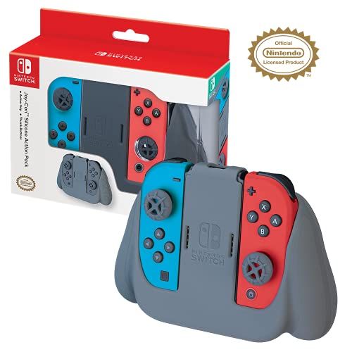 RDS Industries Nintendo Switch Joy-Con Action Grip and Thumb Grips - Red Textured Silicone - Official Nintendo Licensed Product - Nintendo Switch