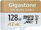 Gigastone Carte microSD XC 128 Go A1 V10 UHS-I U1 avec Adaptateur SD. Vitesse de lecture allant jusqu'à 95 Mo/s. Haute Vitesse vidéo Full HD Nintendo Dashcam GoPro Caméra Samsung Canon Nikon DJI Drone