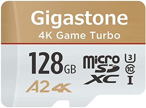 Gigastone 128GB Micro SD Card, 4K UHD Game Turbo, Nintendo Switch Compatible, Read/Write 100/50 MB/s, A2 App Performance, UHS-I U3 C10 Class 10 Memory Card, with [5-Yrs Free Data Recovery]