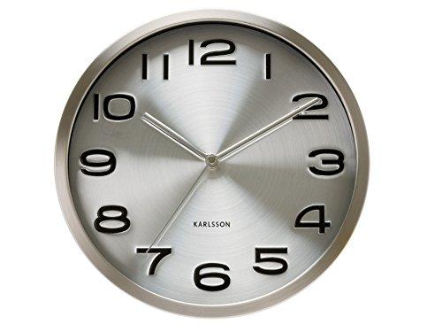 Present Time Karlsson KA4462 Orologio da Muro Maxie, Acciaio