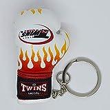 TWINS ボクシンググローブ キーリング 白ファイヤー キーホルダー ストラップ ツインズ ボクシング 格闘技 リアル ミニ ムエタイ 人気商品 ホワイト
