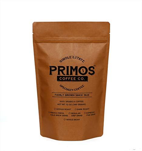French Press Specialty Coffee, Coarsely Ground, Primos Coffee Co (Medium Roast, 12 Oz)