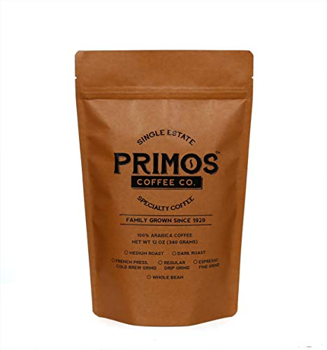 French Press Specialty Coffee, Coarsely Ground, Primos Coffee Co (Medium Roast, 2 Bags)