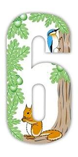 Gnome Wheelie Bin Stickers -  numbers Squirrel 6