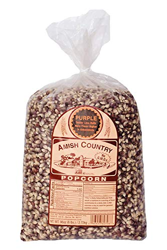 Purchase Amish Country Popcorn | 6 lb Bag | Purple Popcorn Kernels | Old Fashioned with Recipe Guide...
