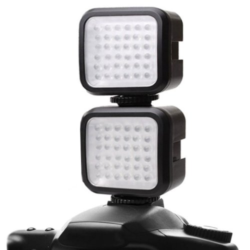 2-Pack ENHANCE VidBRIGHT 36 Rechargeable High Output Balanced Light LED Camera/Video Light Panel w/Built-In Diffuser for Canon, Nikon, Sony, Fujifilm, Leica, Pentax & More Digital SLR Cameras