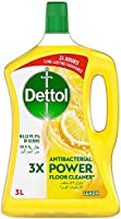 ديتول باور منظف الأرضيات المضاد للبكتريا برائحة الليمون، 3 ليتر