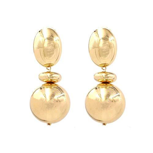 JY Novelty Jewelry-Women Earring Studs Earring Drop Earrings Ear Line,Personalized Wild Earrings Gold, European and American Fashion Hipster Metal Temperament Trend Earrings, Suitable fo