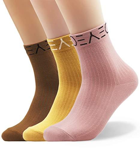 Seoulmade Herren & Damen Socken aus Premium Baumwolle | Bunte Streetwear Socken in verschiedenen Farben Mix 3x Paar 35-39