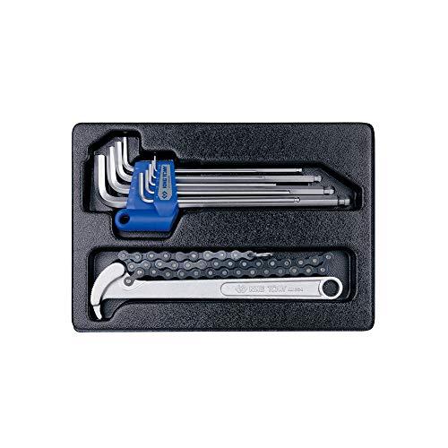 KING TONY 920110MR kettingmoersleutel en zeskantsleutelset voor gereedschapswagen