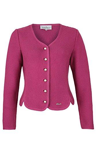 Turi Landhaus Damen Dirndljacke Strick pink, 320 Himbeere Pink, 38