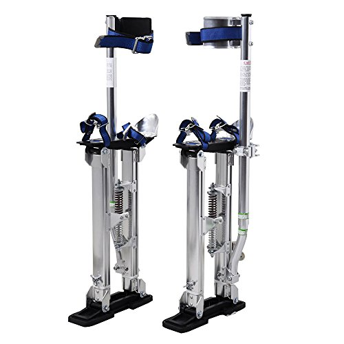 Alightup Aluminum Tool Stilts Height Adjustable Drywall Stilt Lifts for Taping Painting Finishing Portable Lifting Tool (15