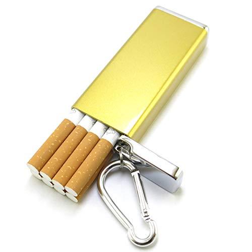 男性用シガレットケースメタル、耐湿性、耐衝撃性、ポータブル。屋外タバコを収納可能軽量で持ち運びが簡単,金