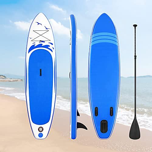 Stand Up Paddling Board Paddle Board Inflatable Paddle Board 305 * 76 * 15cm Surfboard Kayak mit Komplettem Zubehör & Wasserdichter ISUP Rucksack fürJugendliche Erwachsene