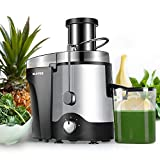 Juicer, Juicer Machine for Vegetable and Fruit, 3 Speed Juice Extractor with 3' Wide Mouth, Centrifugal Juicer Easy to Clean Dishwasher Safe, Anti-Drip, BPA-Free