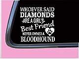 Bloodhound Diamonds - Adhesivo decorativo para cama de perro (6 pulgadas)