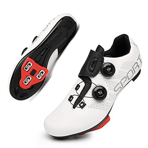 Pelaton Shoes Womens Cycling Shoes with Delta Cleats Set...