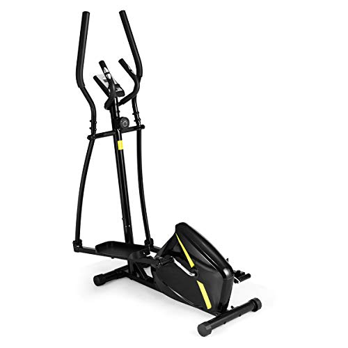 Goplus Elliptical Machine Trainer, Cross Trainer Magnetic Exercise Machine for Home with 8...