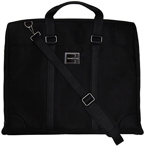 SANCTIVE® Anzugtasche Kleidertasche Business Reise - Herren Anzug Tasche Kleidersack Anzugkoffer Handgepäck - Anzugsack faltbar, schwarz
