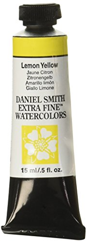 DANIEL SMITH Extra Fine Watercolor 15ml Paint Tube, Lemon Yellow